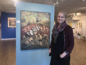 her painting in clifton fine art
