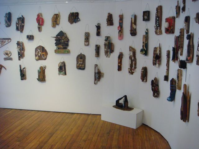 small assemblage art on the walls of helston museum