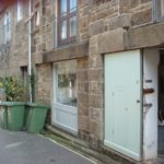 photo of studio doors and exterior in bread street, penzance