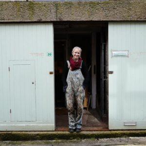 portrait of delpha hudson outside her studio by Rick Davy