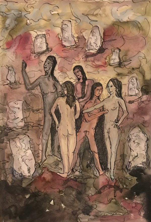 figurative watercolour for sale