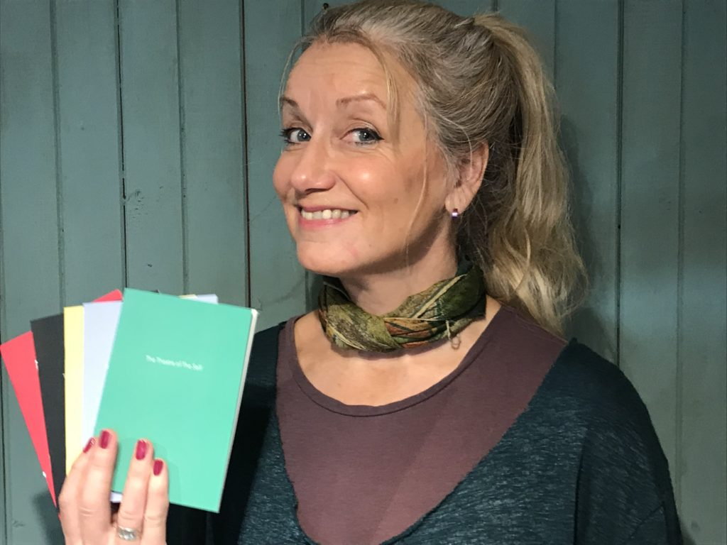 author delpha hudson with proofs of book