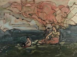 Hidden Idylls and Idols, 2018, 38x28x3cm, framed ),  £650