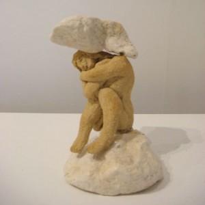 Fallen-Caryatid, sculpture, 10x7x7cm, £400