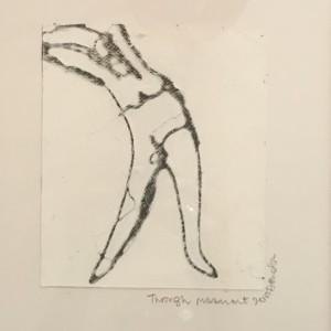 through movement 35x40x3cm, framed drawing, £250
